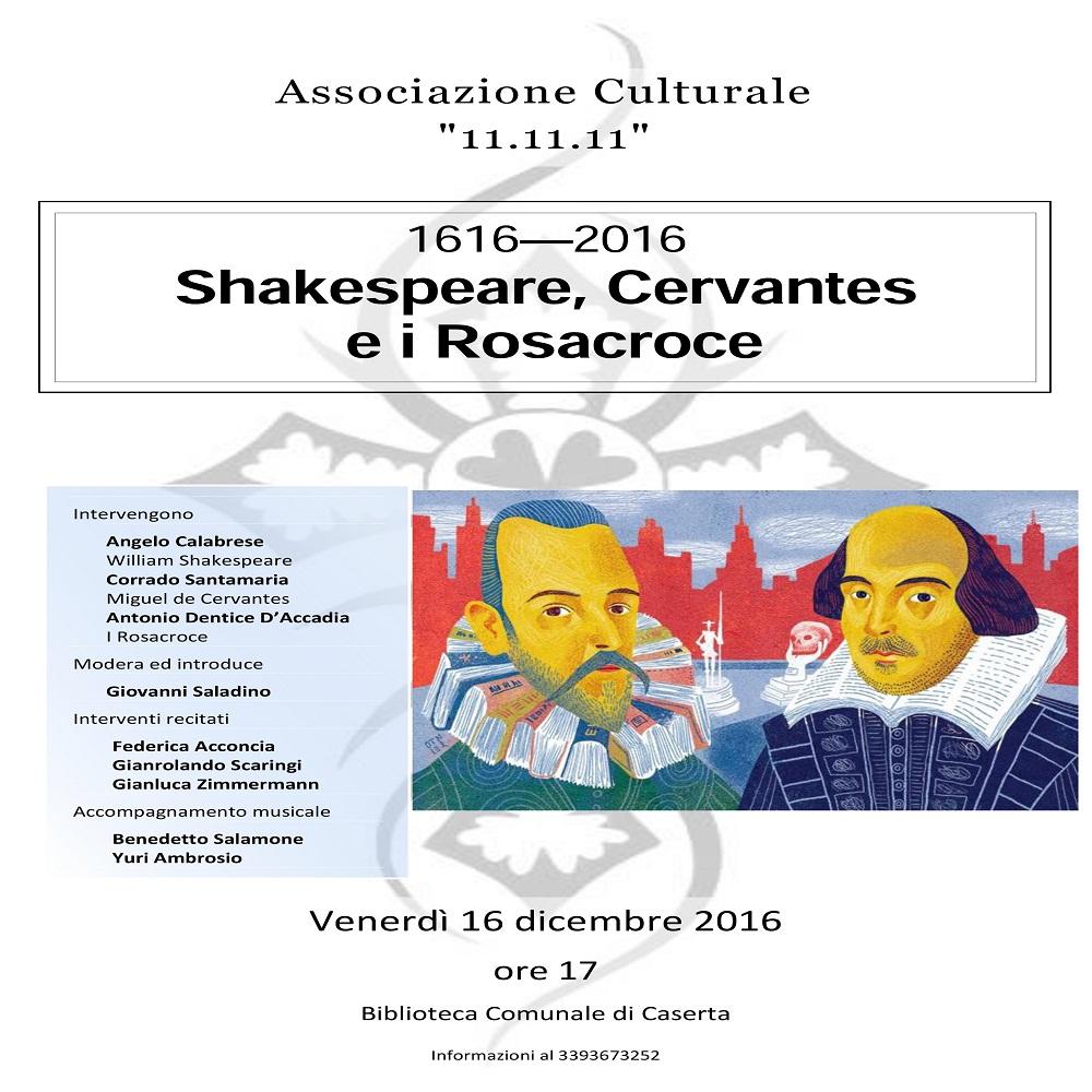 Shakespeare, Cervantes e i Rosacroce alla Biblioteca Comunale di Caserta